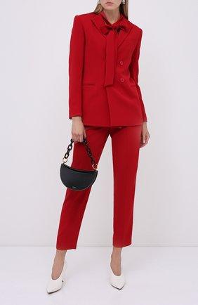 Женские брюки REDVALENTINO красного цвета, арт. UR3RBC90/2EU | Фото 2