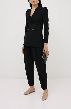Женские брюки из вискозы и шерсти REDVALENTINO черного цвета, арт. UR3RBC95/WBP | Фото 2