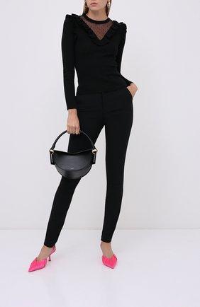 Женские брюки из вискозы и шерсти REDVALENTINO черного цвета, арт. UR3RBD00/WBP | Фото 2