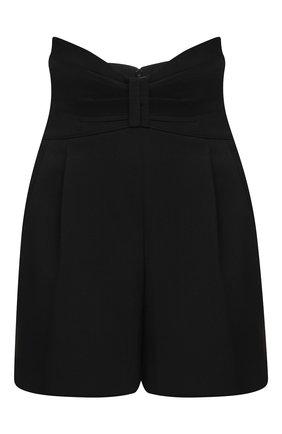 Женские шорты REDVALENTINO черного цвета, арт. UR3RFD55/00J | Фото 1 (Женское Кросс-КТ: Шорты-одежда; Материал внешний: Шерсть, Синтетический материал; Длина Ж (юбки, платья, шорты): Мини)