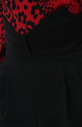 Женские шорты REDVALENTINO черного цвета, арт. UR3RFD55/00J | Фото 5 (Женское Кросс-КТ: Шорты-одежда; Материал внешний: Шерсть, Синтетический материал; Длина Ж (юбки, платья, шорты): Мини)