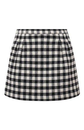 Женские юбка-шорты REDVALENTINO черно-белого цвета, арт. UR3RFD70/55U | Фото 1