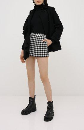 Женские юбка-шорты REDVALENTINO черно-белого цвета, арт. UR3RFD70/55U | Фото 2