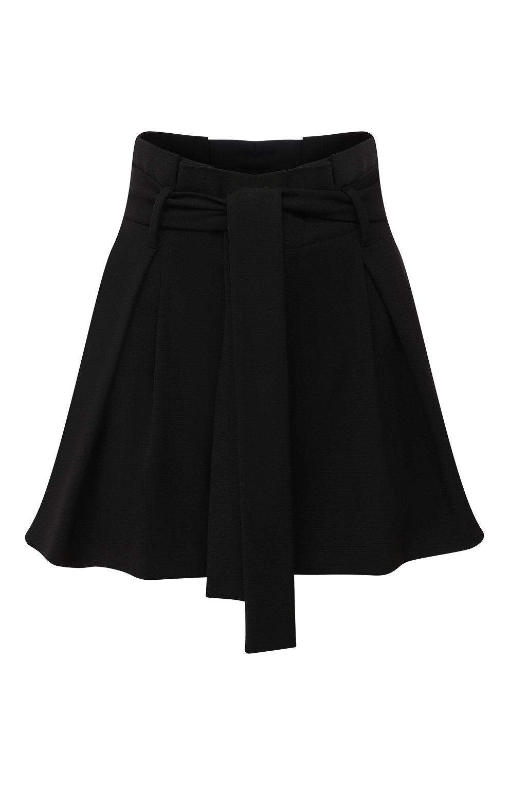Женские шорты REDVALENTINO черного цвета, арт. UR3RFD75/0VM | Фото 1 (Женское Кросс-КТ: Шорты-одежда; Длина Ж (юбки, платья, шорты): Мини; Материал внешний: Синтетический материал; Стили: Романтичный, Кэжуэл)