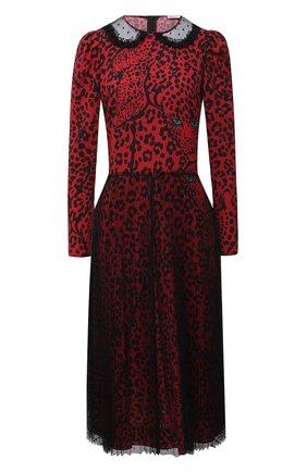 Женское платье REDVALENTINO красного цвета, арт. UR3VAR55/57D | Фото 1