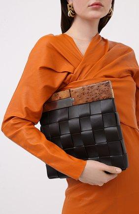 Женский клатч bv snap BOTTEGA VENETA коричневого цвета, арт. 618131/VCQC3 | Фото 2
