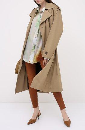 Женские кожаные брюки J BRAND коричневого цвета, арт. L8001/G | Фото 2