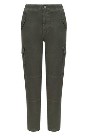 Женские хлопковые брюки J BRAND хаки цвета, арт. JB002894 | Фото 1