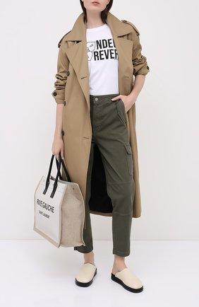Женские хлопковые брюки J BRAND хаки цвета, арт. JB002894 | Фото 2