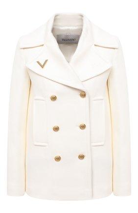 Женское шерстяное пальто VALENTINO белого цвета, арт. UB3CJ0U54G8 | Фото 1