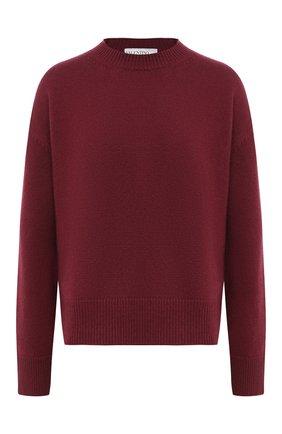 Женский кашемировый свитер VALENTINO бордового цвета, арт. UB3KCB395MJ | Фото 1