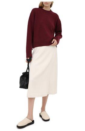 Женский кашемировый свитер VALENTINO бордового цвета, арт. UB3KCB395MJ | Фото 2