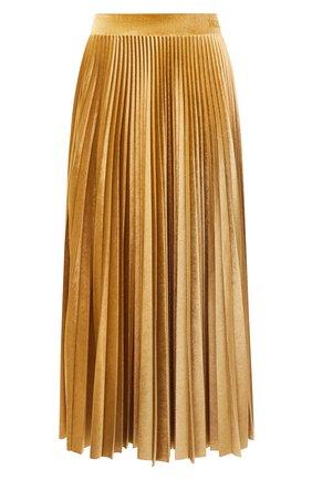 Женская юбка-миди VALENTINO желтого цвета, арт. UB3MD01W5MD   Фото 1