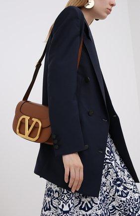 Женская сумка valentino garavani supervee VALENTINO коричневого цвета, арт. UW2B0G09/ZXL   Фото 2