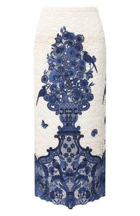Женская юбка-миди VALENTINO голубого цвета, арт. UB3RA6I55QN | Фото 1
