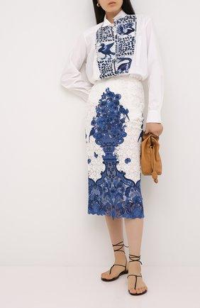 Женская юбка-миди VALENTINO голубого цвета, арт. UB3RA6I55QN | Фото 2