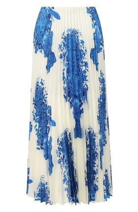 Женская шелковая юбка VALENTINO голубого цвета, арт. UB3RA6F55LL | Фото 1