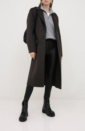 Женские кожаные брюки VALENTINO черного цвета, арт. UB3NF00Y45H | Фото 2
