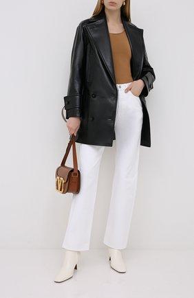 Женское кожаное пальто VALENTINO черного цвета, арт. UB3NB05D5K1 | Фото 2