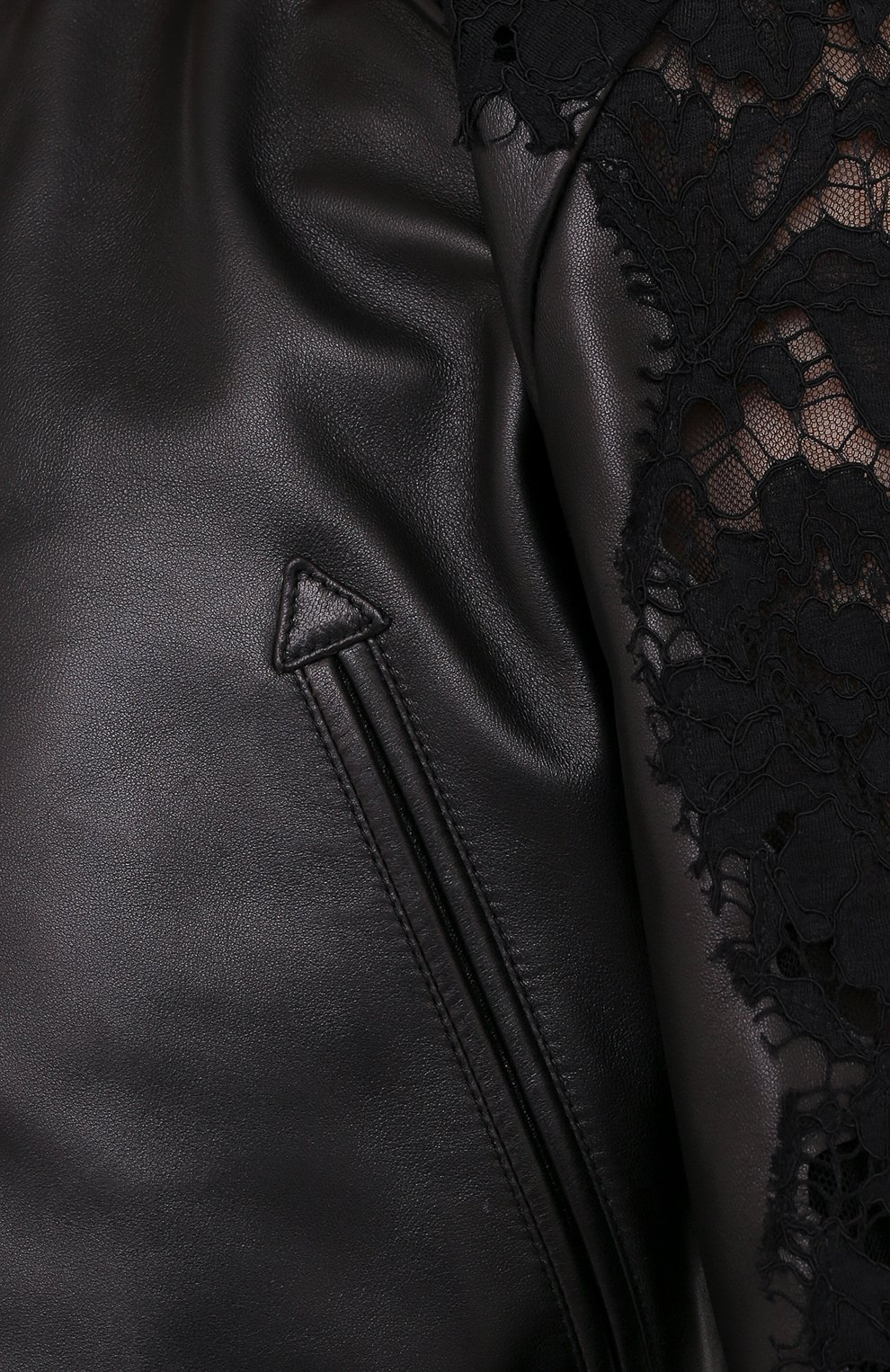 Женский кожаный бомбер VALENTINO черного цвета, арт. UB3NA05R1Y9   Фото 5
