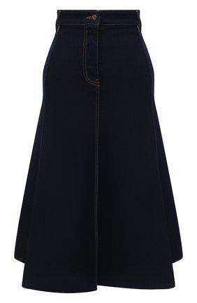 Женская джинсовая юбка VALENTINO темно-синего цвета, арт. UB3DD10P5LP | Фото 1