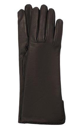 Женские кожаные перчатки LORO PIANA черного цвета, арт. FAL2778 | Фото 1
