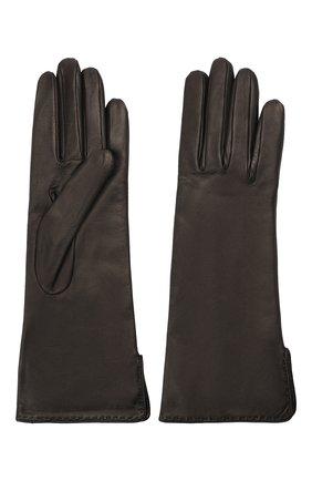 Женские кожаные перчатки LORO PIANA черного цвета, арт. FAL2778 | Фото 2
