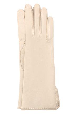 Женские кожаные перчатки LORO PIANA светло-серого цвета, арт. FAL2778 | Фото 1