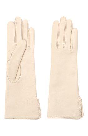 Женские кожаные перчатки LORO PIANA светло-серого цвета, арт. FAL2778 | Фото 2