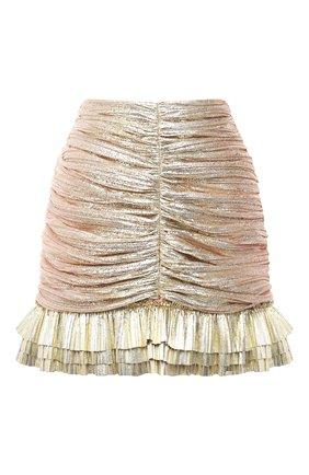 Женская юбки KALMANOVICH золотого цвета, арт. SS2032 | Фото 1