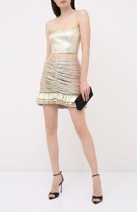 Женская юбки KALMANOVICH золотого цвета, арт. SS2032 | Фото 2