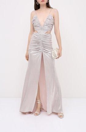 Женское платье KALMANOVICH серебряного цвета, арт. SS2031 | Фото 2