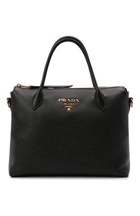 Женская сумка PRADA черного цвета, арт. 1BA157-2BBE-F0002-NOX | Фото 1