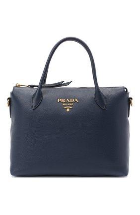 Женская сумка PRADA синего цвета, арт. 1BA157-2BBE-F0216-NOX | Фото 1