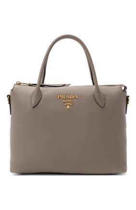 Женская сумка PRADA серого цвета, арт. 1BA157-2BBE-F0572-NOX | Фото 1