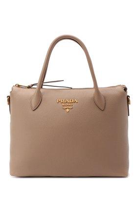Женская сумка PRADA бежевого цвета, арт. 1BA157-2BBE-F0770-NOX | Фото 1