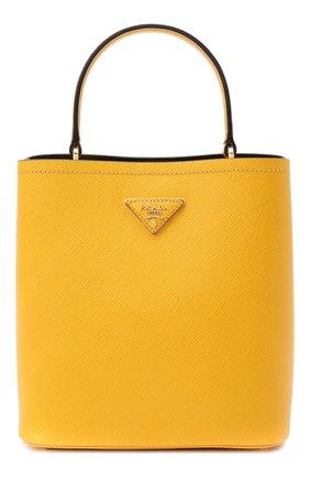 Женская сумка panier PRADA желтого цвета, арт. 1BA212-2ERX-F0CF3-OOO | Фото 1