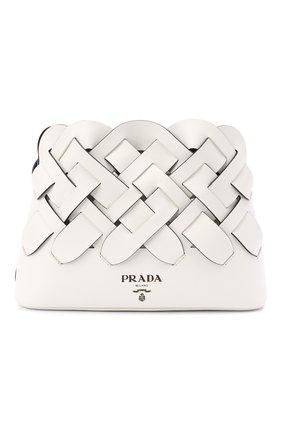 Женская сумка PRADA белого цвета, арт. 1BA290-2DI4-F0G3Z-OOO | Фото 1