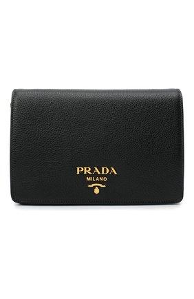 Женская сумка PRADA черного цвета, арт. 1BD159-2BBE-F0002-NOM | Фото 1