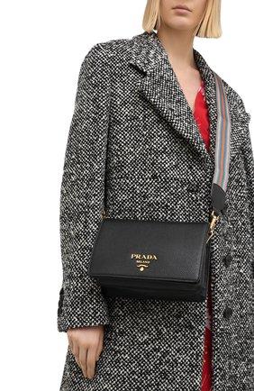 Женская сумка PRADA черного цвета, арт. 1BD159-2BBE-F0002-NOM | Фото 2