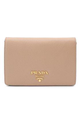 Женская сумка PRADA бежевого цвета, арт. 1BD159-2BBE-F0770-NOM | Фото 1
