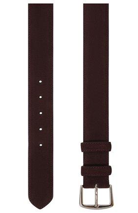 Мужской замшевый ремень LORO PIANA фиолетового цвета, арт. FAA1544 | Фото 3