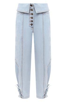 Женские джинсы ULLA JOHNSON голубого цвета, арт. SP200414 | Фото 1