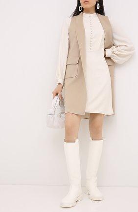 Женский кашемировый жилет LORO PIANA бежевого цвета, арт. FAG3518 | Фото 2