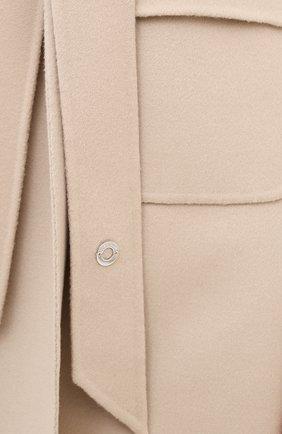 Женский кашемировый жилет LORO PIANA бежевого цвета, арт. FAG3518 | Фото 5