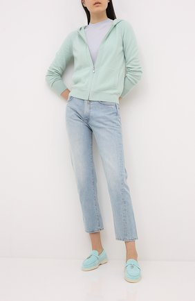 Женский кашемировый пуловер LORO PIANA голубого цвета, арт. FAL2550 | Фото 2