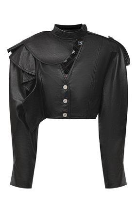 Женская кожаная куртка ULYANA SERGEENKO черного цвета, арт. GBT001SS20P (0840т20) | Фото 1