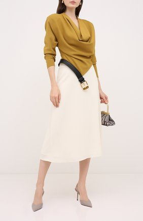 Женская кожаные туфли thandi 85 JIMMY CHOO бежевого цвета, арт. THANDI 85/CCL | Фото 2