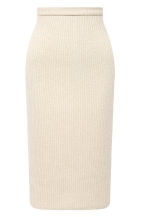 Женская кашемировая юбка LORO PIANA кремвого цвета, арт. FAL2871 | Фото 1