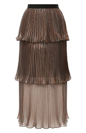 Женская юбка-миди SELF-PORTRAIT бронзового цвета, арт. PF20-138 | Фото 1